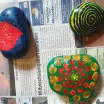 Steine bemalen (Auch gut als Tischdeko)